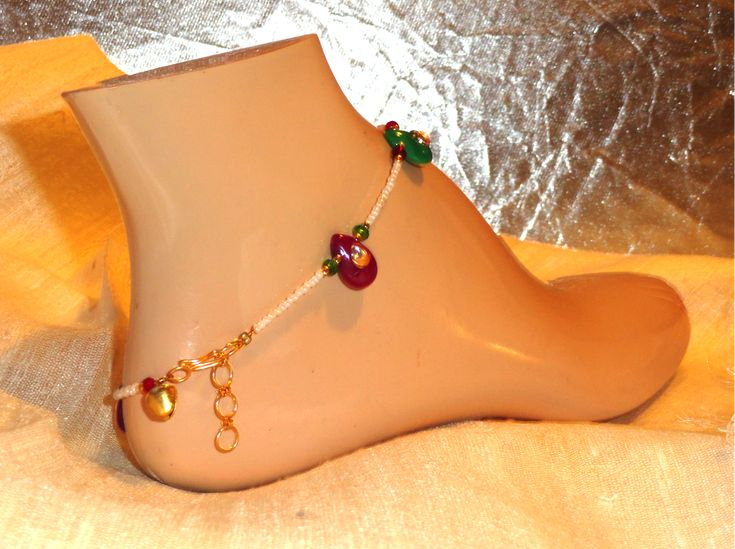Meenakari and stone anklet. Indian Jewelry. Handmade anklet. Copper an – Artikrti