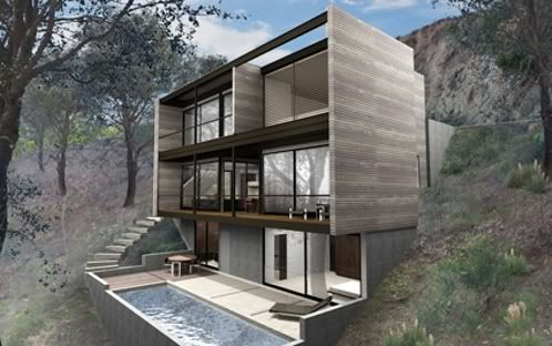 Hollywood Hybrid, casas prefabricadas de M. Radziner [casasprefabricadasya.com]