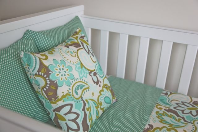 Boondie Baby - Decorative Cushion – Teal Flourish – polka dot