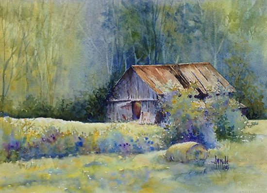 Landscaping Rock Berea Ky : Barn in berea by judy mudd watercolor