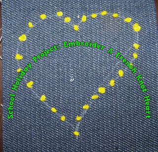 A Pretty Talent Blog: School Holiday Project: Embroider A French Knotted Heart