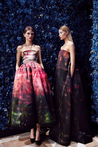 8 Christian Dior_Haute Couture Hiver 2012_Dress with Sterling Ruby Print_Raf Simons_@Patrick Demarchelier