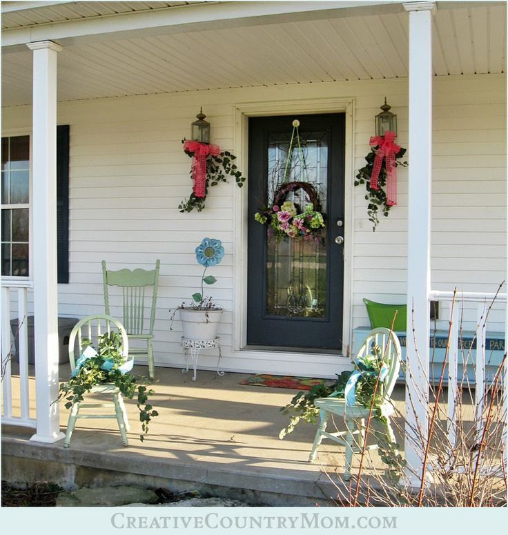 Front Porch Decorating: 118 Best Images About Spring Porch Decorating Ideas On