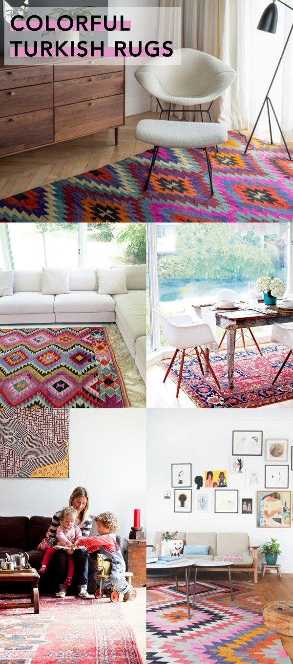 RUGS! They can make or break the room. Interior Style File: Colorful Turkish Rugs // Glitter Guide Rug
