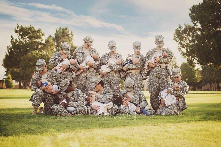 Military Moms Breastfeeding in Uniform | POPSUGAR Moms