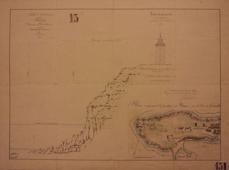 Phare de Granville. 1829 Arch nat CP/F/14/17520/10, pièce 145