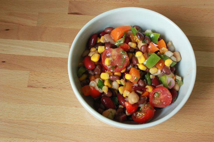 In The Pink & Green: Recipe // Fiesta Bean Salad