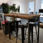 Reclaimed Industrial Chic 6-8 Seater Tall Poseur Bar Table