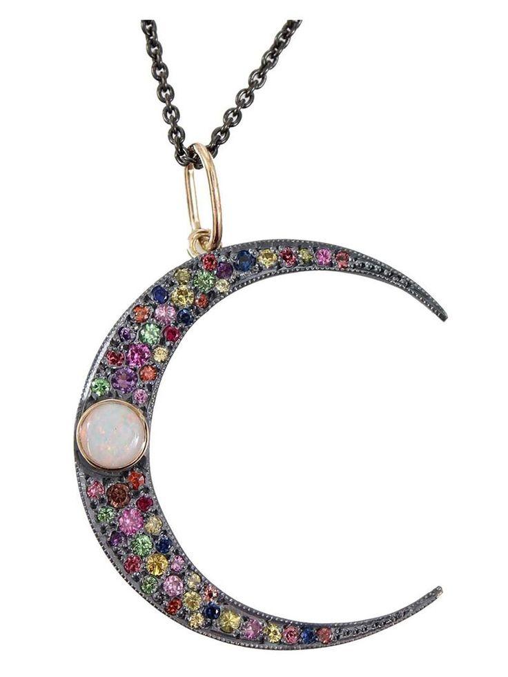 Andrea Fohrman Crescent Moon Pendant Necklace Stuff