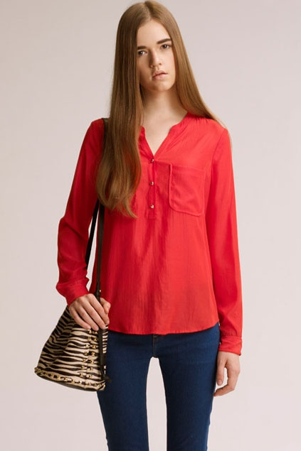 All-match Brief Style Red Shirt