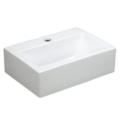 Elanti Wall Mounted Rectangle Bathroom Sink In White In 2018