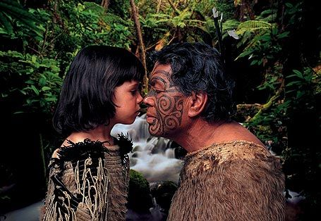 "Hongi is a traditional Maori greeting, which literally means ""to share breath"". Hongi is done by pressing one's nose to the other person when they meet each other. It is believed that when the two noses meet, people exchange their breath and the visitor becomes one of the local people (tangata whenua)."