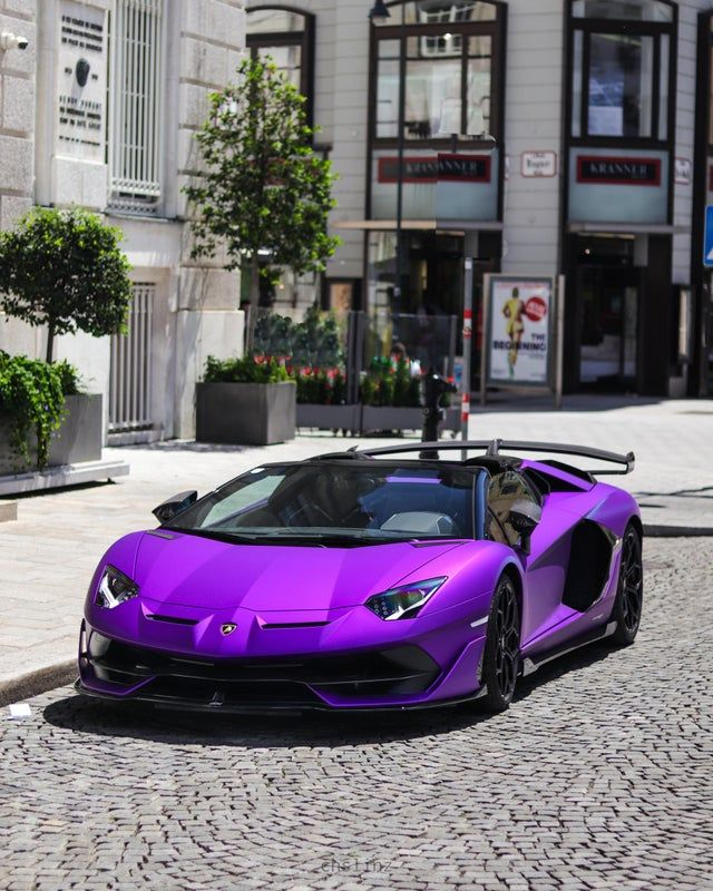Sports car Lamborghini, Purple Lamborghini, purple... | PNGWing