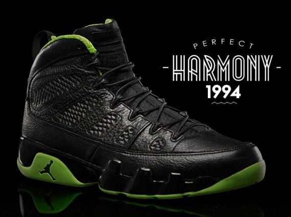 "Air Jordan IX ""Black/Neon Green"" Collection"