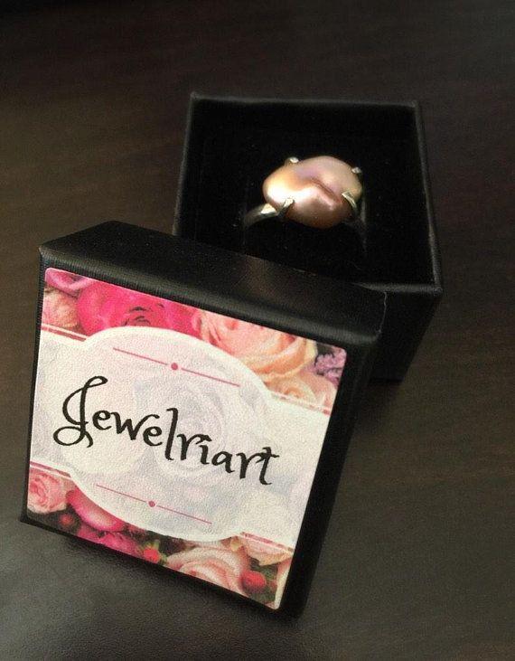 Modern Pearl Ring/Blush Rose Pearl Ring/Pink Pearl