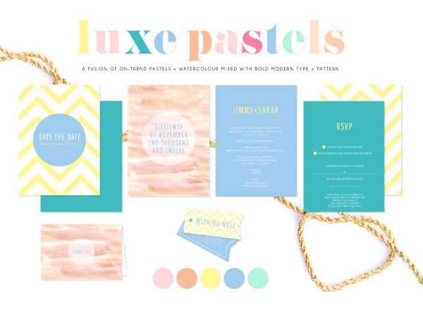 Luxe Pastels Wedding Suite Style
