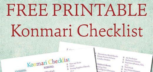 konmari checklist featured image