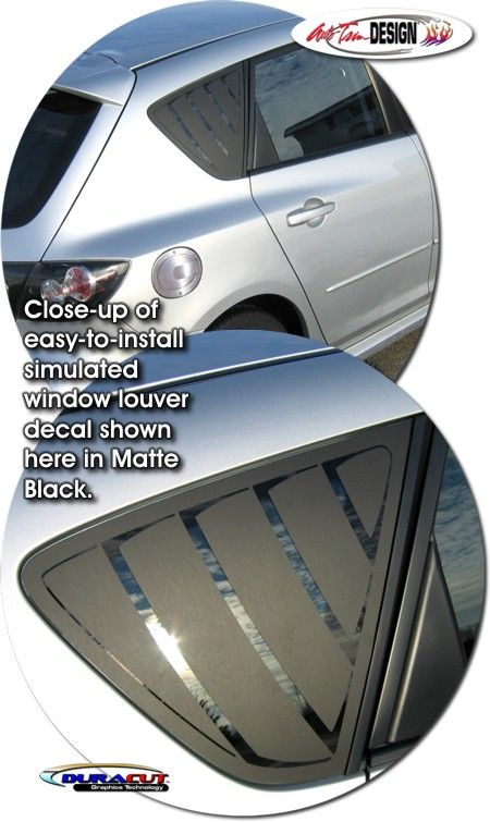 Simulated Window Louver Decal Kit for Mazda3 5-Door