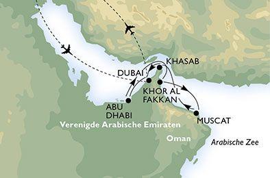 Ontdek het Dubai van een hele andere kant met de fly-en-cruise!