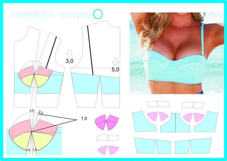 cropped top pattern, or fitted bikini top | FollowPics