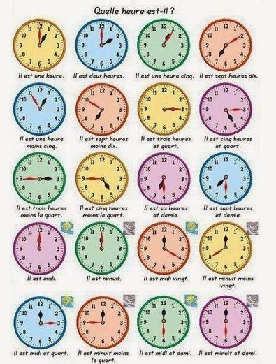 Le bistrot du français: Quelle heure il est ? | PASSION FLE | Scoop.it