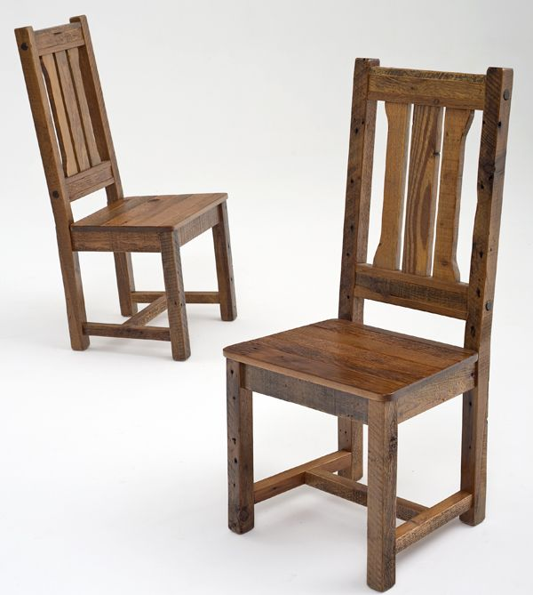 The Chairs Barnwood Furniture, Rustic Furnishings, Log Bed, Cabin Decor,  Harvest Tables