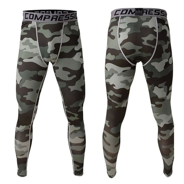 New Camouflage Compression Pants Men Fitness Joggings Bodybuilding Mans Trousers Brand Camouflage Army Green Skinny Leggings #Affiliate