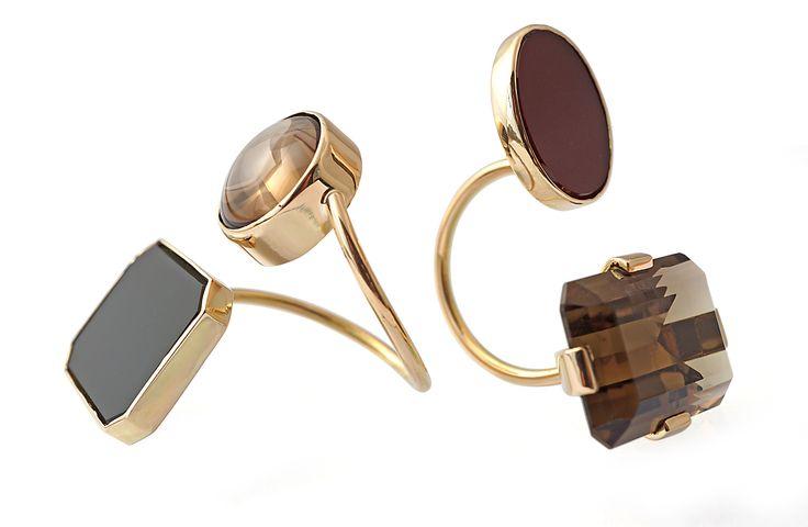 Yesim Yuksek for Alef - gold rings  #alefjewelry #yesimyuksek #finejewelry #contemporaryjewelry #designerjewelry #18kgold #ring
