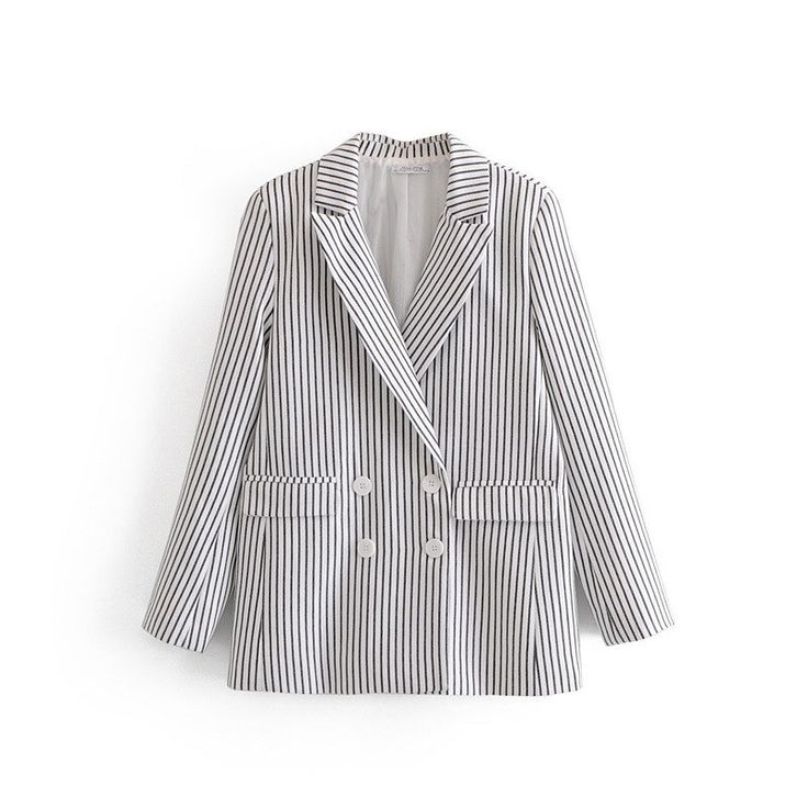 Fashion Women 2019 Vintage Notched Loose Blazers Spring Summer Turn-Down Collar ... 3
