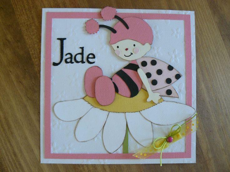 Carte de naissance pour une petite fleur!!!