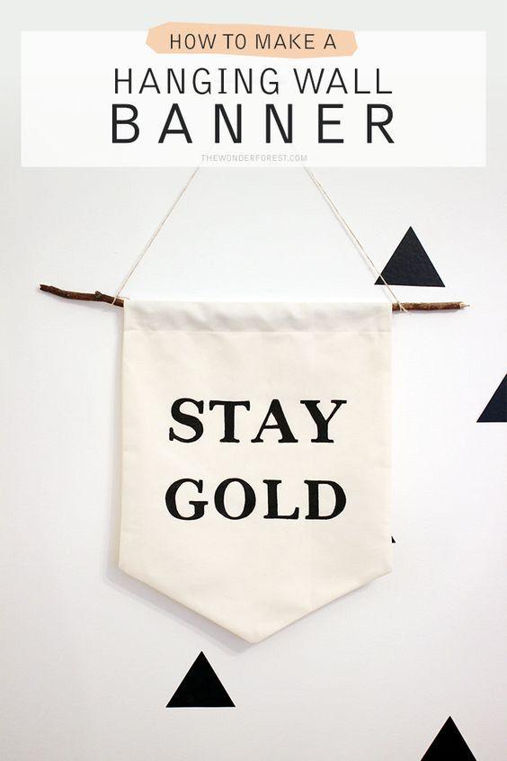 25 Best Ideas About Wall Banner On Pinterest Diy Banner
