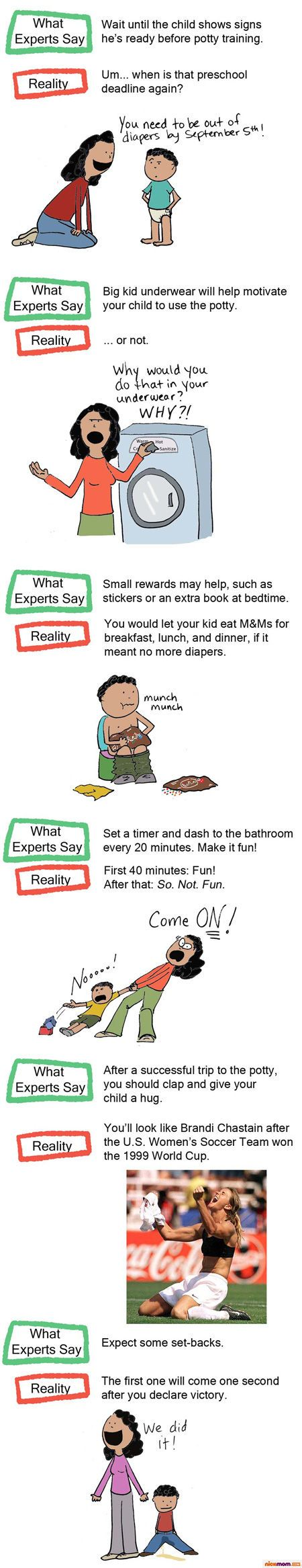 Potty Training: What the Experts Say vs. What Actually Happens in Real Life   More LOLs  Funny Stuff for Moms   NickMom