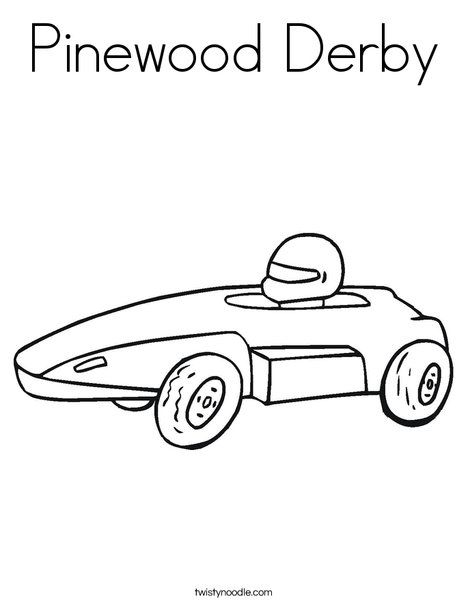 Pinewood Derby Coloring Page