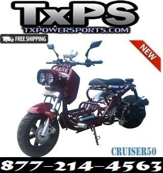 TAOTAO CRUISER 50 GAS STREET LEGAL SCOOTER.Free.Shipping.Sale Price: $1,129.00