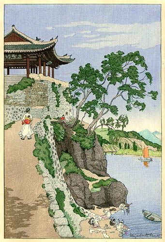 """""""Chilsung Gate, Pyengyang"""" by Elizabeth Keith, 1922"""