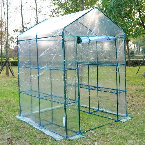 """#mygarden #manythings This open """"walk in"""" #portable greenhouse utilizes lightweight, yet sturdy, PVC coverings built over a powder-coated steel frame. The combin..."""
