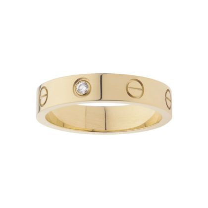 fake cartier love rings yellow gold with diamonds