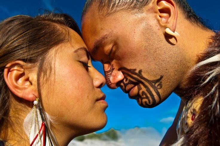 Maori Greeting New Zealand: A Hongi Is A Traditional Māori Greeting In New Zealand