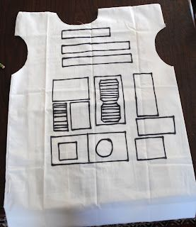 The Train To Crazy: Handmade Dress Up Series: DIY Pillowcase R2D2 Costume Tutorial
