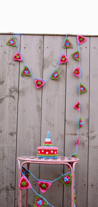 Ak at home : crochet * vlaggenslinger patroon.