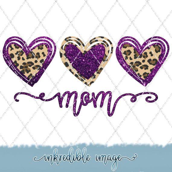 Leopard Glitter Mom Sublimation Png Digital Download Etsy Digital Download Etsy Sublime Cricut Projects Vinyl