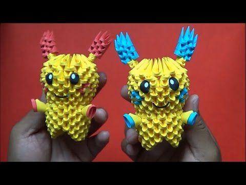 Origami 3D Mini Mario bros - YouTube