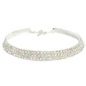 Zehui Bridal/wedding Party 3-row Cz Rhinestones Crystal Claw Chains Necklace Choker Zehui. $8.99. Great to match any fashion style. Trendy design. Suitable for personal wearing for party or wedding.. 100%Brand new and high quality.. This is a new fine fashionable jewelry with unbeatable price.. Three rows claw chains with crystals.