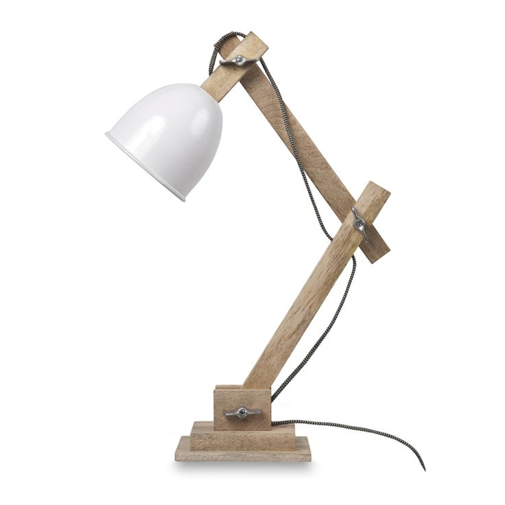 Guarida Table Lamp with White Metal Head