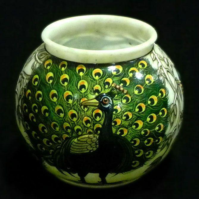 Peacock Silver Pot on Wanelo