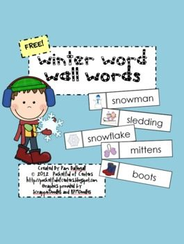 Winter Word Wall Words {FREEBIE}: Classroom, Words Cards, 35 Winter, Winter Writing, Pocket Charts, K Winter, Encouragement Winter, Winter Words, Pockets Charts