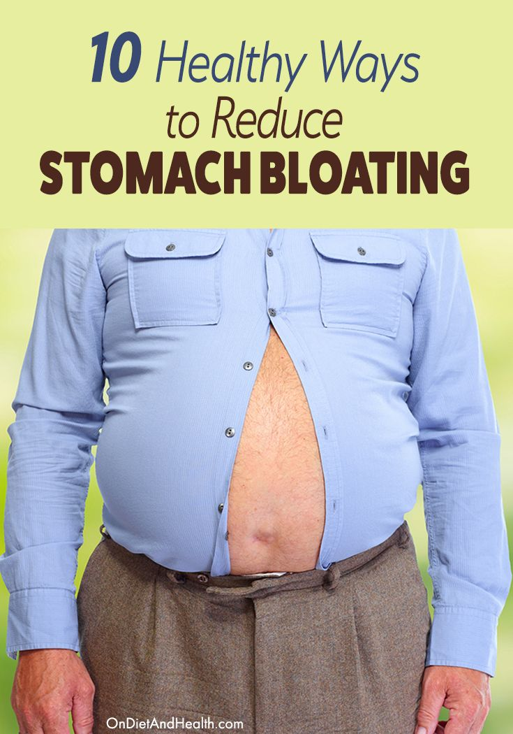 Reduce stomach #bloating the healthy way, without toxic fasts or cleanses. Fix the true causes of belly bloat and you'll be healthier as well as trimmer. // OnDietAndHealth.com
