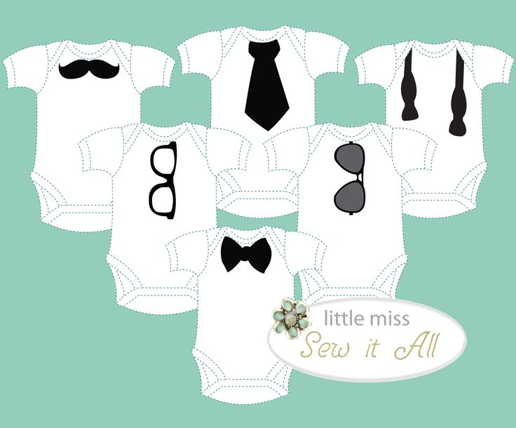 Adorable DIY Onesie Design Templates for BOY (PDF download). via Etsy. @Dlisa Morris