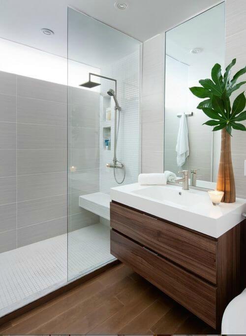 Resultado de imagem para banheiros com plantas