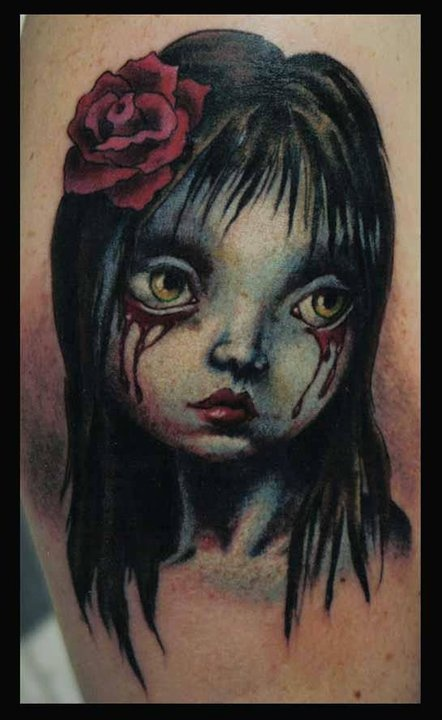 mark ryden rose tattoo by jason blanton jason blanton tattoos pinterest rose tattoos. Black Bedroom Furniture Sets. Home Design Ideas